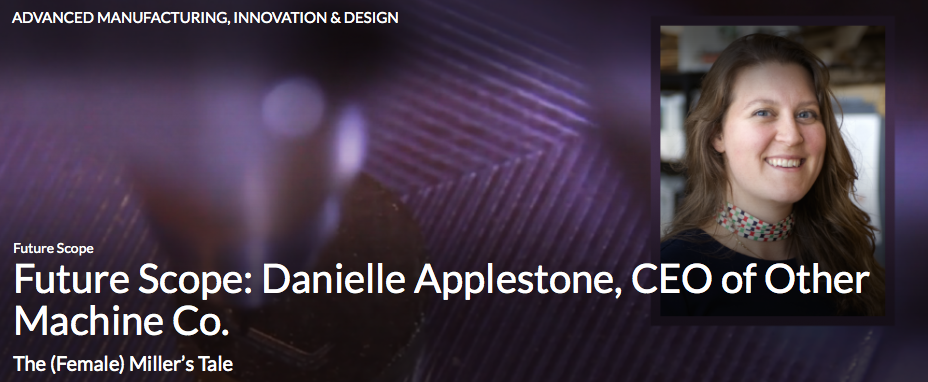 3D printing is so 2013. This woman makes desktop milling machines!